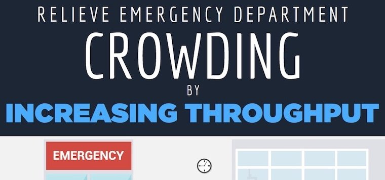 Relieve Emergency Department Crowding by Improving Throughput